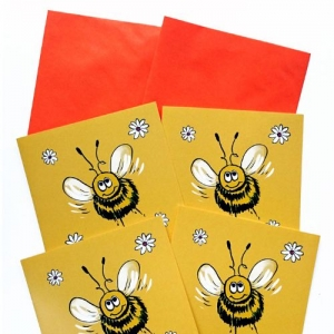 Bee Notelets/Cards, pack of 4