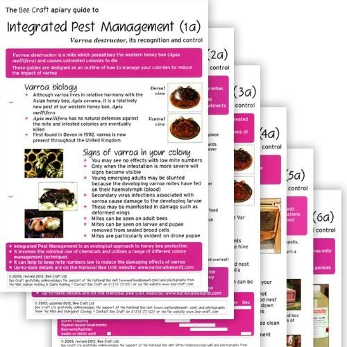 Integrated Pest Management Apiary Cards